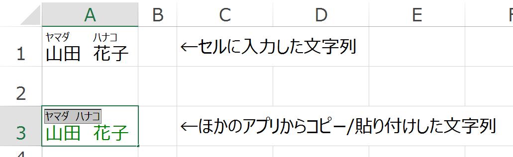 Excelでふりがな情報を付加するSetPhoneticメソッド
